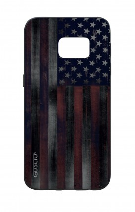 Samsung S7 WHT Two-Component Cover - Dark USA Flag