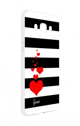 Cover Huawei P8 - Bandiera americana scura