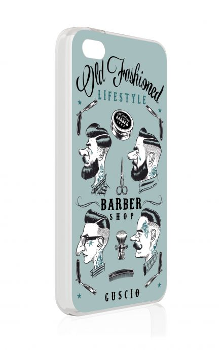 Cover Apple iPhone 4/4S - Barber Print