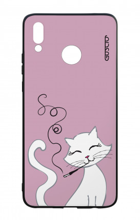 Huawei P Smart Plus WHT Two-Component Cover - White Kitty