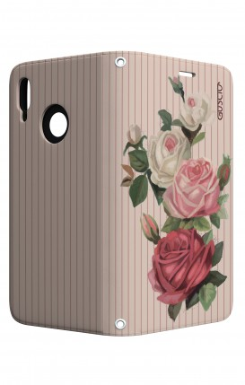 Cover STAND Huawei P20 Lite - Rose e righe