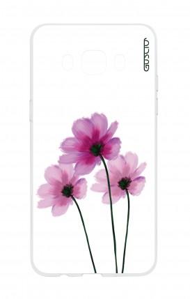 Cover Samsung Galaxy J5 2016 - Fiori su bianco