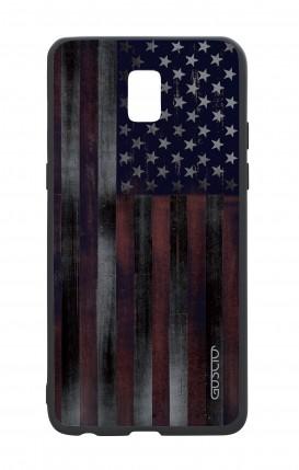 Samsung J5 2017 White Two-Component Cover - Dark USA Flag