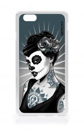 Cover TPU Apple iPhone 7/8  - Calavera bianco e nero