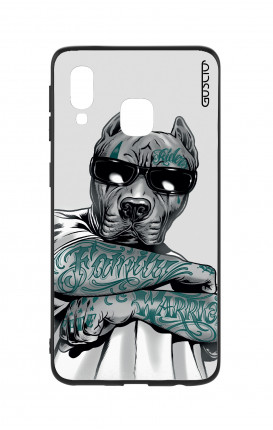 Cover Bicomponente Samsung A20e - Pitbull tatuato