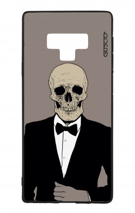 Samsung Note 9 WHT Two-Component Cover - Tuxedo Skull