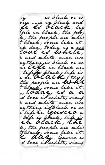 Cover TPU Apple iPhone 7/8  - Scritte in bianco e nero