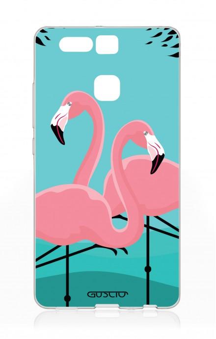 Cover Huawei P9 - Flamingos
