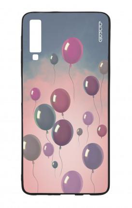 Cover STAND Huawei P30 - Scritte e Cuori rosa nero