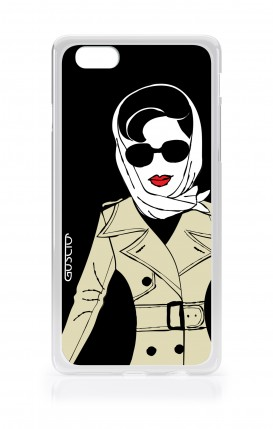 Cover Apple iPhone 7/8 - Signora con impermeabile