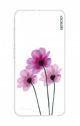 Cover Huawei P8 Lite SMART - Flowers on white