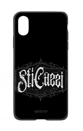 Apple iPhone X White Two-Component Cover - Gothic Sti Cazzi