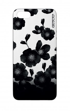Apple iPhone 5 WHT Two-Component Cover - Black Shade Flowers