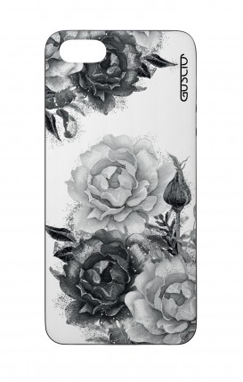 Apple iPhone 5 WHT Two-Component Cover - Black and White Bouquet