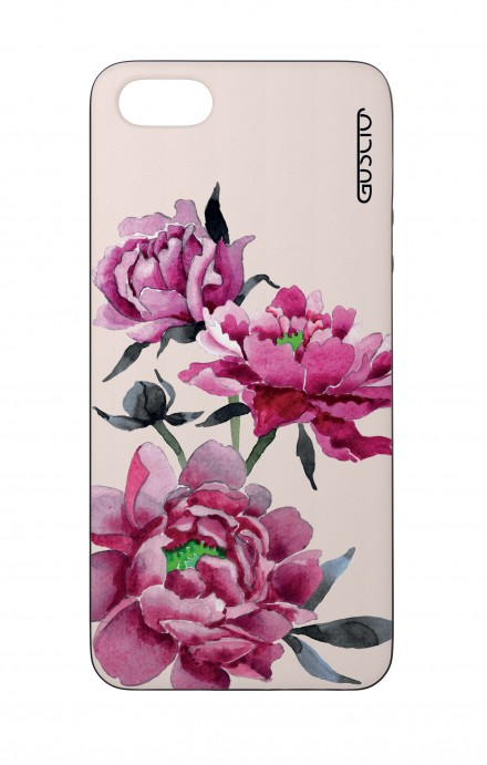 Apple iPhone 5 WHT Two-Component Cover - Pink Peonias