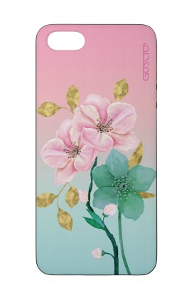 Apple iPhone 5 WHT Two-Component Cover - Pink Flowers