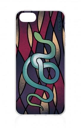 Cover TPU Apple iPhone 5/5s/SE - serpente azzurro