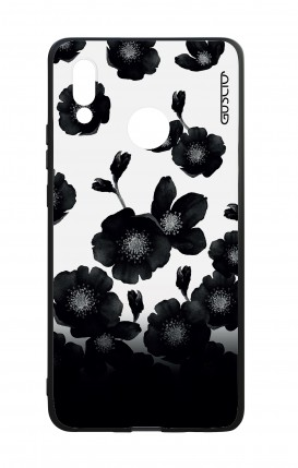 Huawei P20Lite WHT Two-Component Cover - Black Shade Flowers
