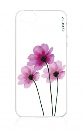 Cover Apple iPhone 5/5s/SE - Flowers on white