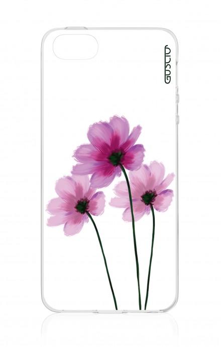 Cover Apple iPhone 5/5s/SE - Fiori su bianco
