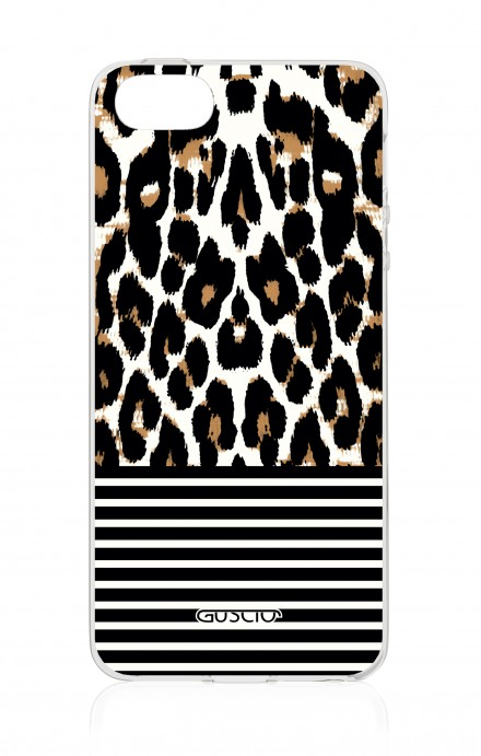 Cover Apple iPhone 5/5s/SE - Animalier & Stripes
