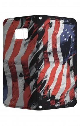Cover STAND SAMSUNG S7 Edge - Bandiera americana