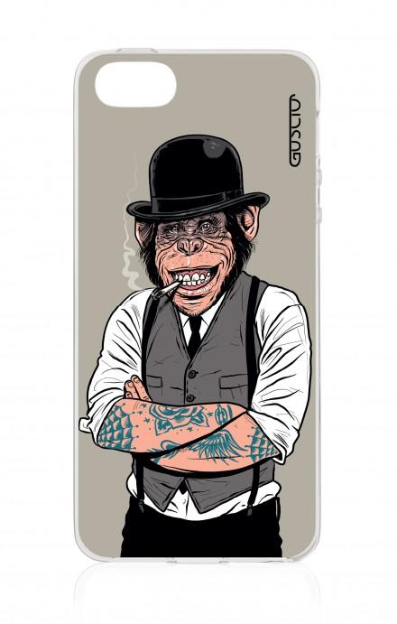 Cover Apple iPhone 5/5s/SE - Scimmia con bombetta
