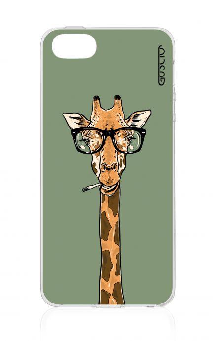Cover Apple iPhone 5/5s/SE - Giraffa con occhiali