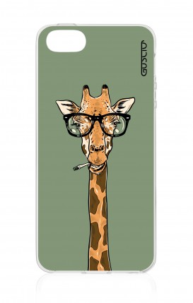 Cover Apple iPhone 5/5s/SE - Giraffa con occhiali