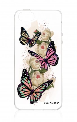 Cover Apple iPhone 5/5s/SE - Butterflies white