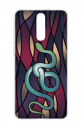 Cover HUAWEI Mate 10 Lite - serpente azzurro