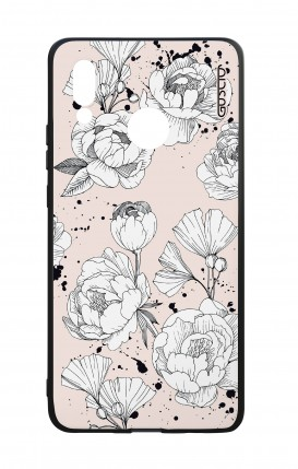 Huawei P20Lite WHT Two-Component Cover - Peonias