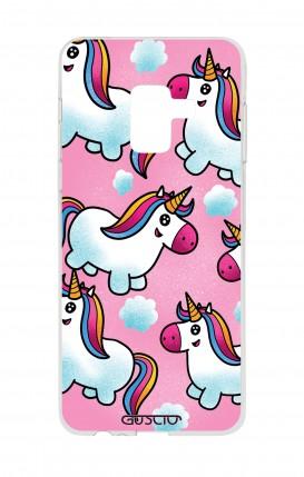 Cover Samsung A8 A5 2018 - unicorni volanti
