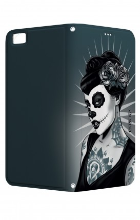 Cover STAND Huawei P8 Lite CStyle - Calavera Grey Shades
