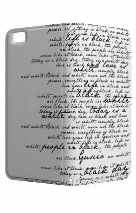 Cover STAND HUAWEI P8 Lite - Scritte in bianco e nero