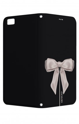 Cover STAND Huawei P8 Lite CStyle - Satin White Ribbon