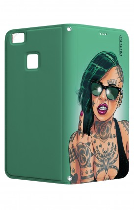 Cover STAND Huawei P9 Lite CStyle - Girl in Green