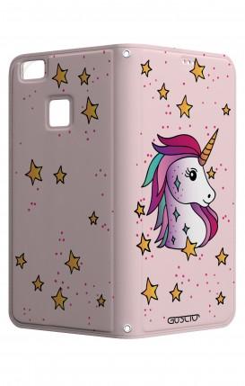 Cover STAND HUAWEI P9 Lite - Unicorno e stelle