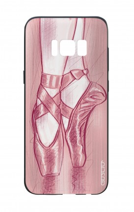 Samsung S8 White Two-Component Cover - Ballet Slippers