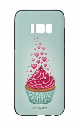 Samsung S8 White Two-Component Cover - Cupcake in Love