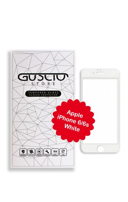 Tempered Glass 3D CarbonFiber iPhone6 White - Neutro