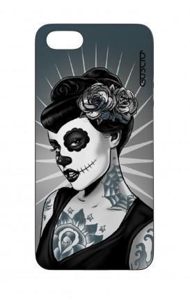Apple iPhone 5 WHT Two-Component Cover - Calavera Grey Shades