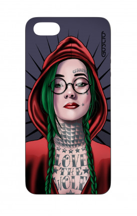 Apple iPhone 5 WHT Two-Component Cover - Red Hood Girl