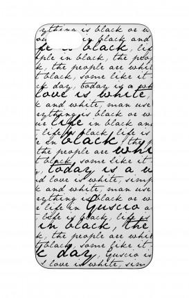 Cover Bicomponente Apple iPhone 5/5s/SE - Scritte in bianco e nero