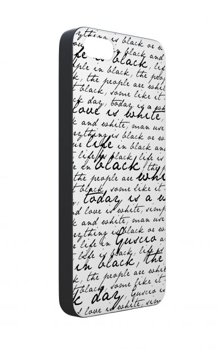 Apple iPhone 5 WHT Two-Component Cover - B&W Letter