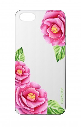 Apple iPhone 5 WHT Two-Component Cover - Nude Peony