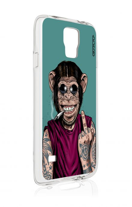 Cover Samsung Galaxy S5 GT G900 - Monkey's always Happy