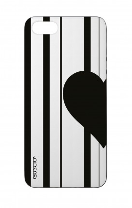 Apple iPhone 5 WHT Two-Component Cover - Half Heart