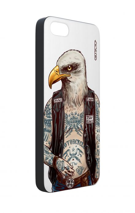 Apple iPhone 5 WHT Two-Component Cover - WHT Eagle Rebel