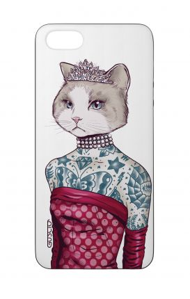 Cover Bicomponente Apple iPhone 5/5s/SE  - Gattina principessa bianco